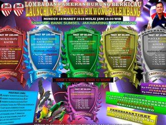 Launching Lapangan RM Wong Palembang