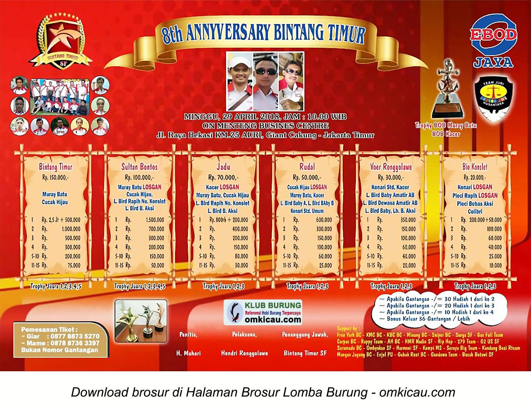 8th Anniversary Bintang Timur