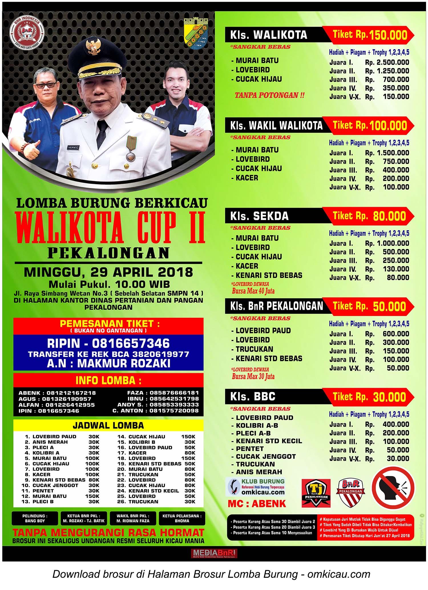 Wali Kota Cup II Pekalongan