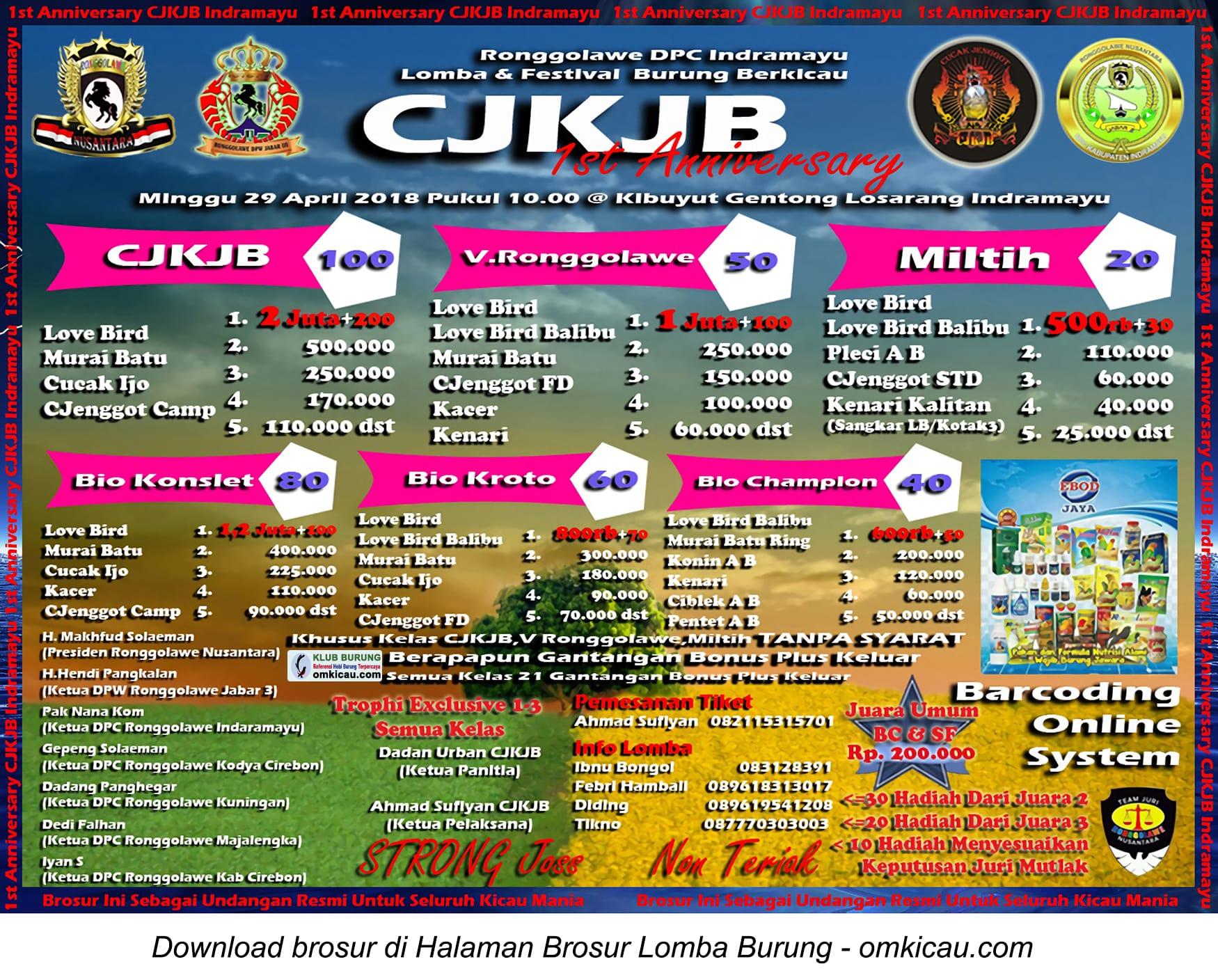 1st Anniversary CJKJB Indramayu