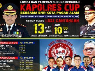 Kapolres Cup bersama BnR Kota Pagar Alam