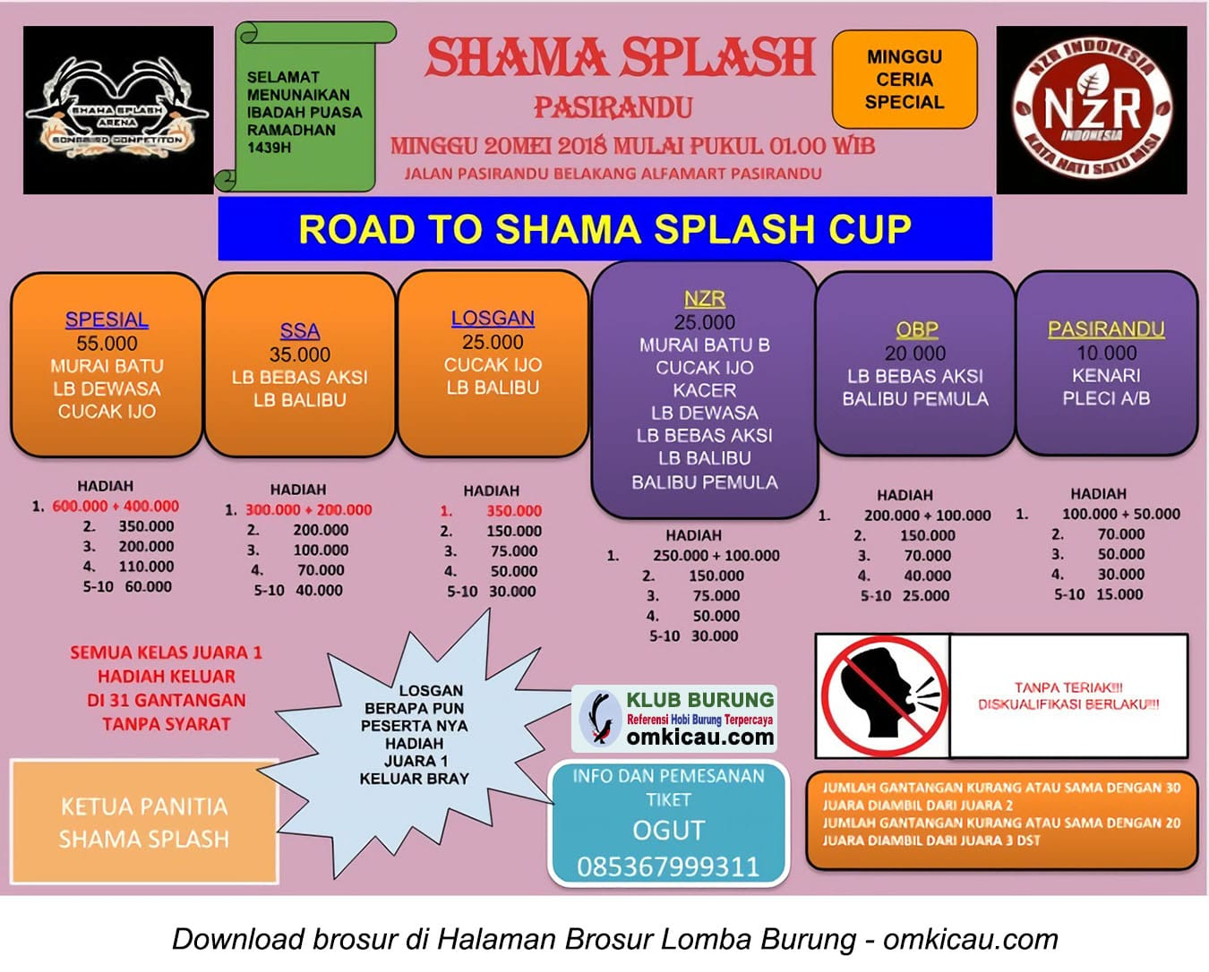 Road to Shama Splash Cup