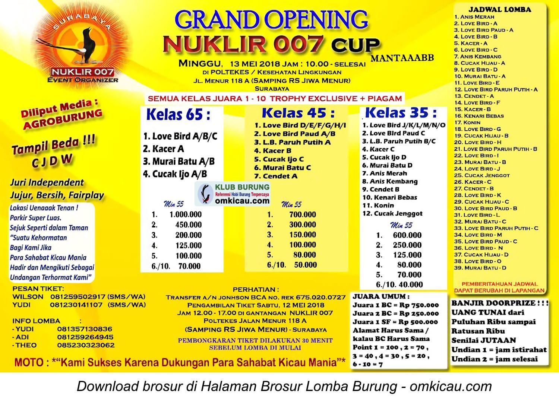 Grand Opening Nuklir 007 Cup