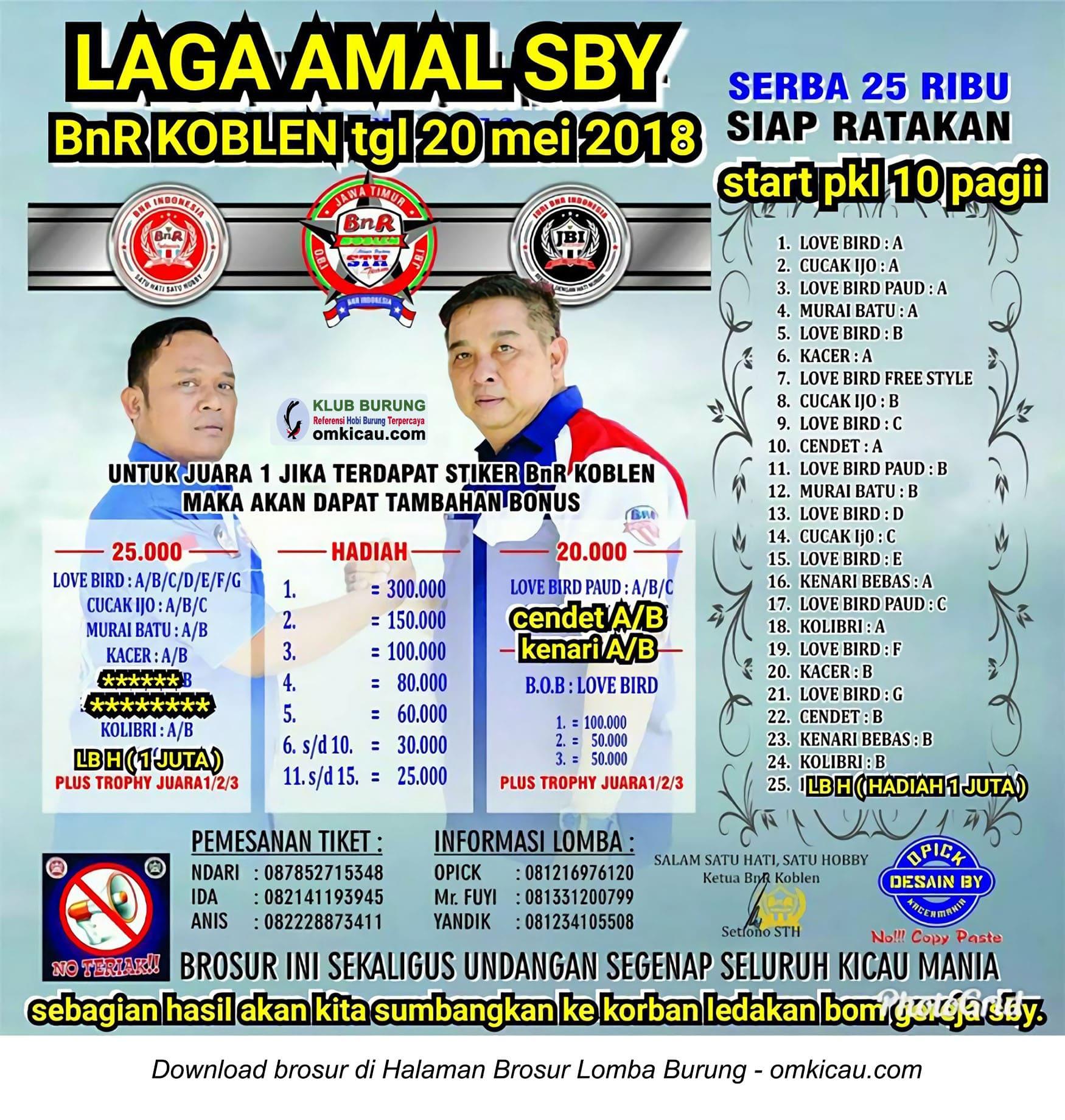 Laga Amal Surabaya BnR Koblen
