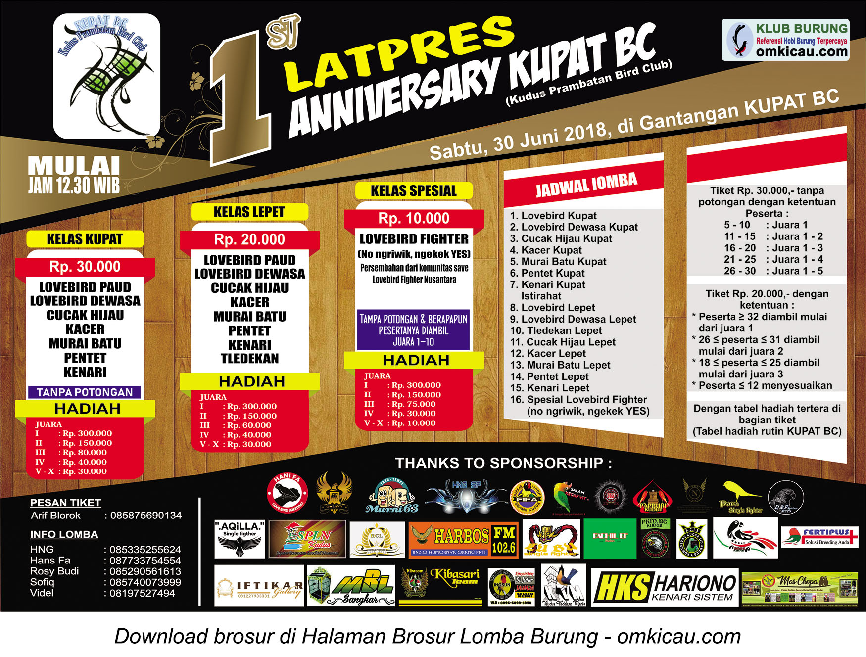 Latpres 1st Anniversary Kupat BC