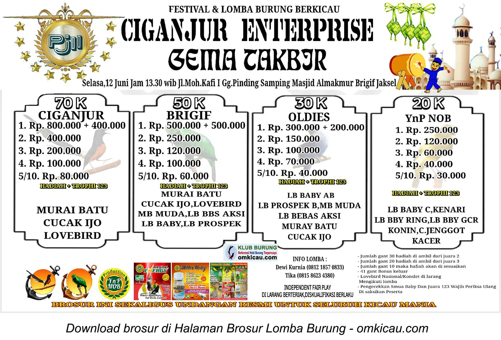 Gema Takbir Ciganjur Enterprise