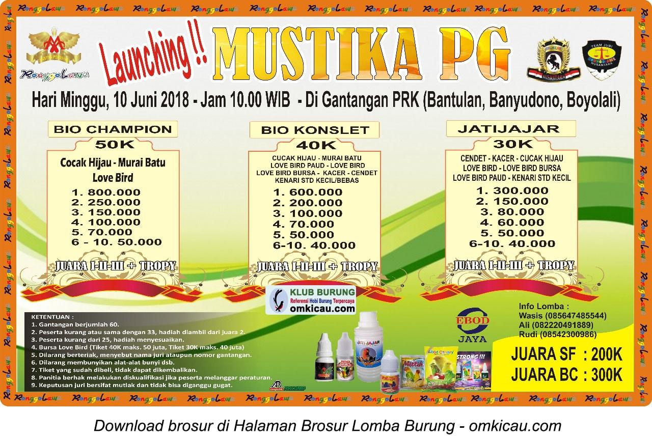 Launching Mustika PG Boyolali