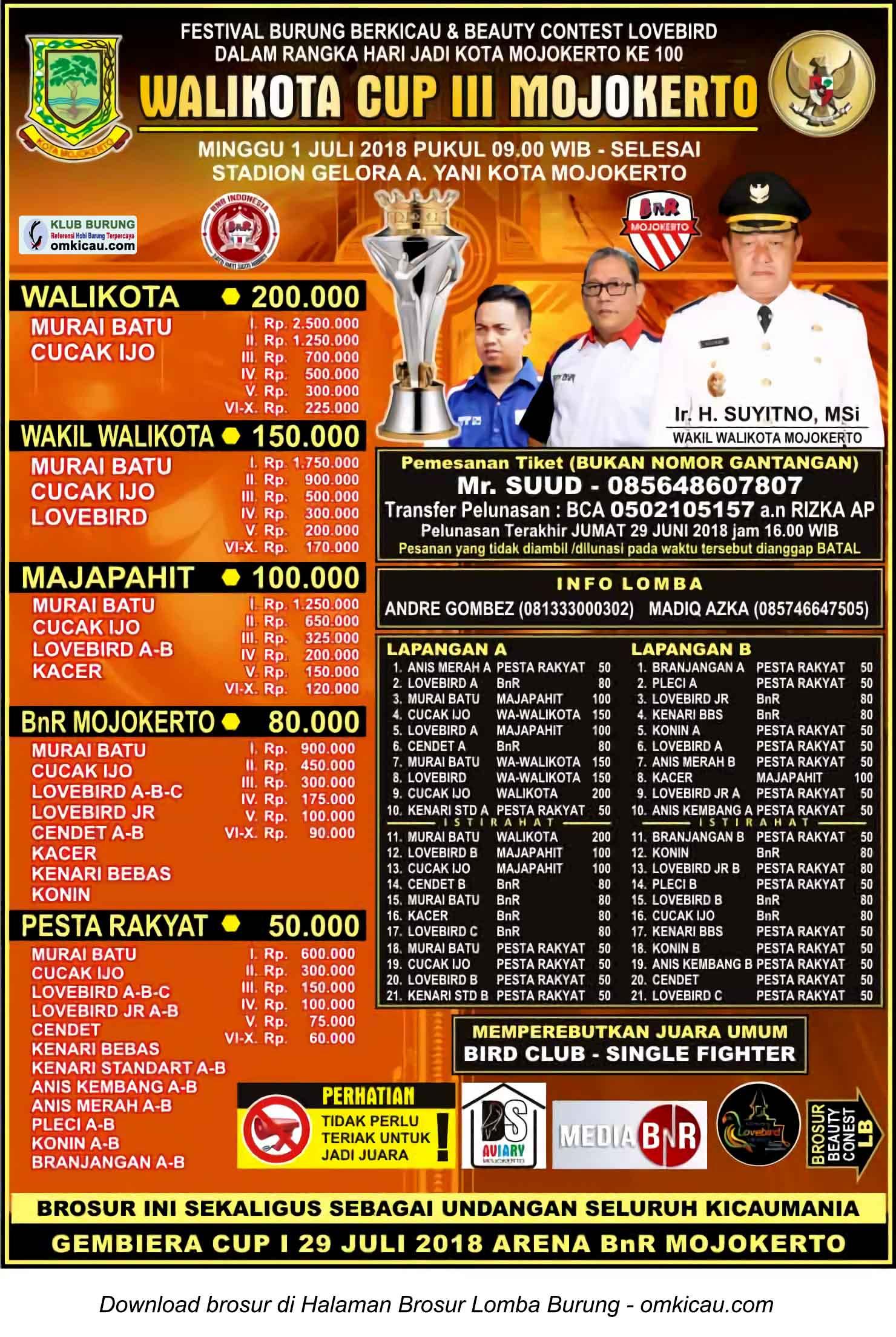 Wali Kota Cup III Mojokerto