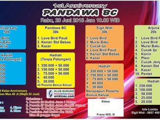 1st Anniversary Pandawa BC