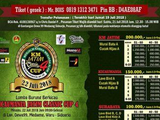 Kicaumania Jatim Classic Cup 4