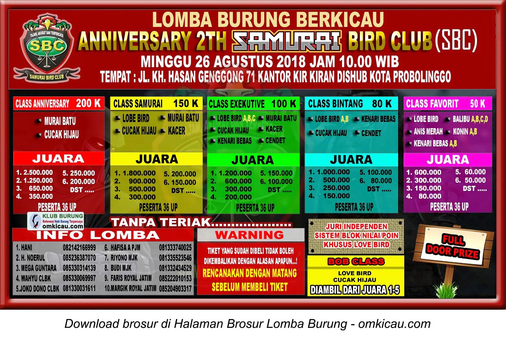 Anniversary 2Th Samurai Bird Club