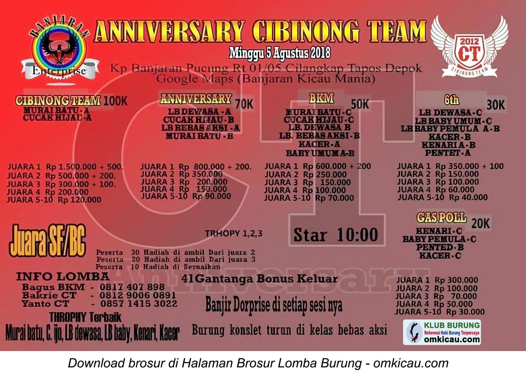Anniversary Cibinong Team