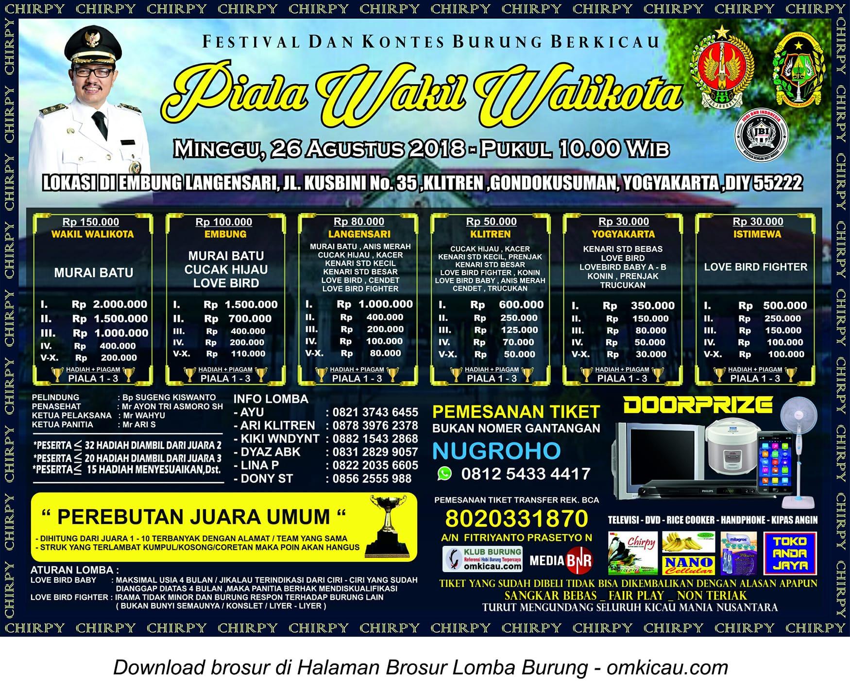 Piala Wakil Wali Kota Jogja