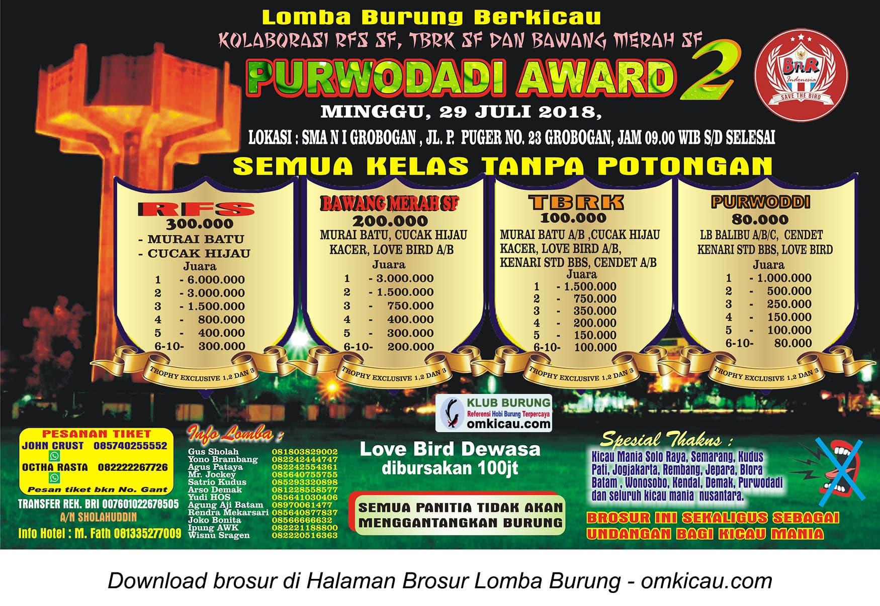 Purwodadi Award 2