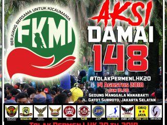 Aksi Damai Tolak Permen LHK 20/2018
