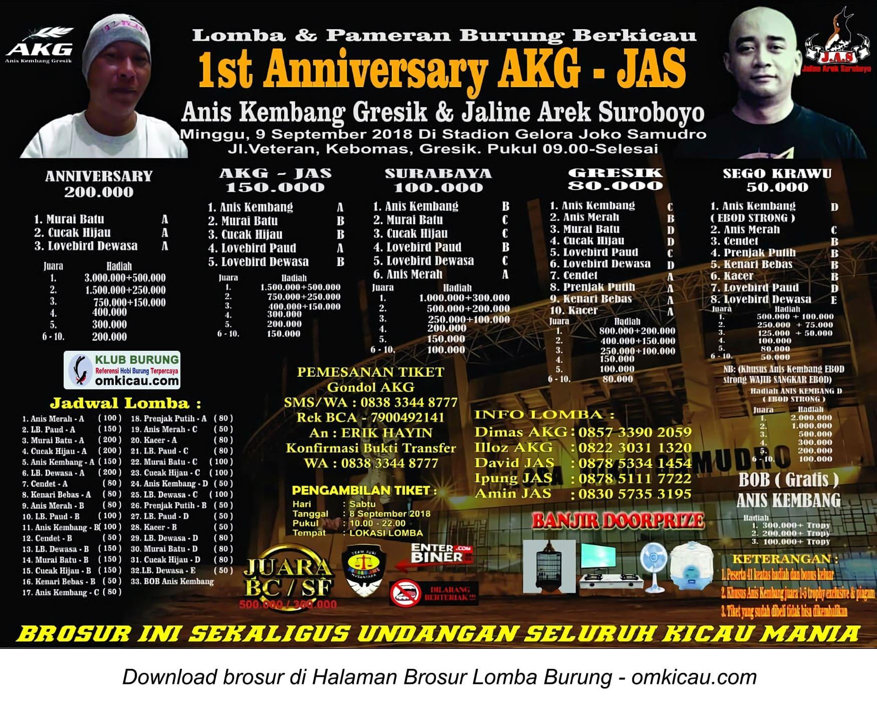 1st Anniversary AKG - JAS