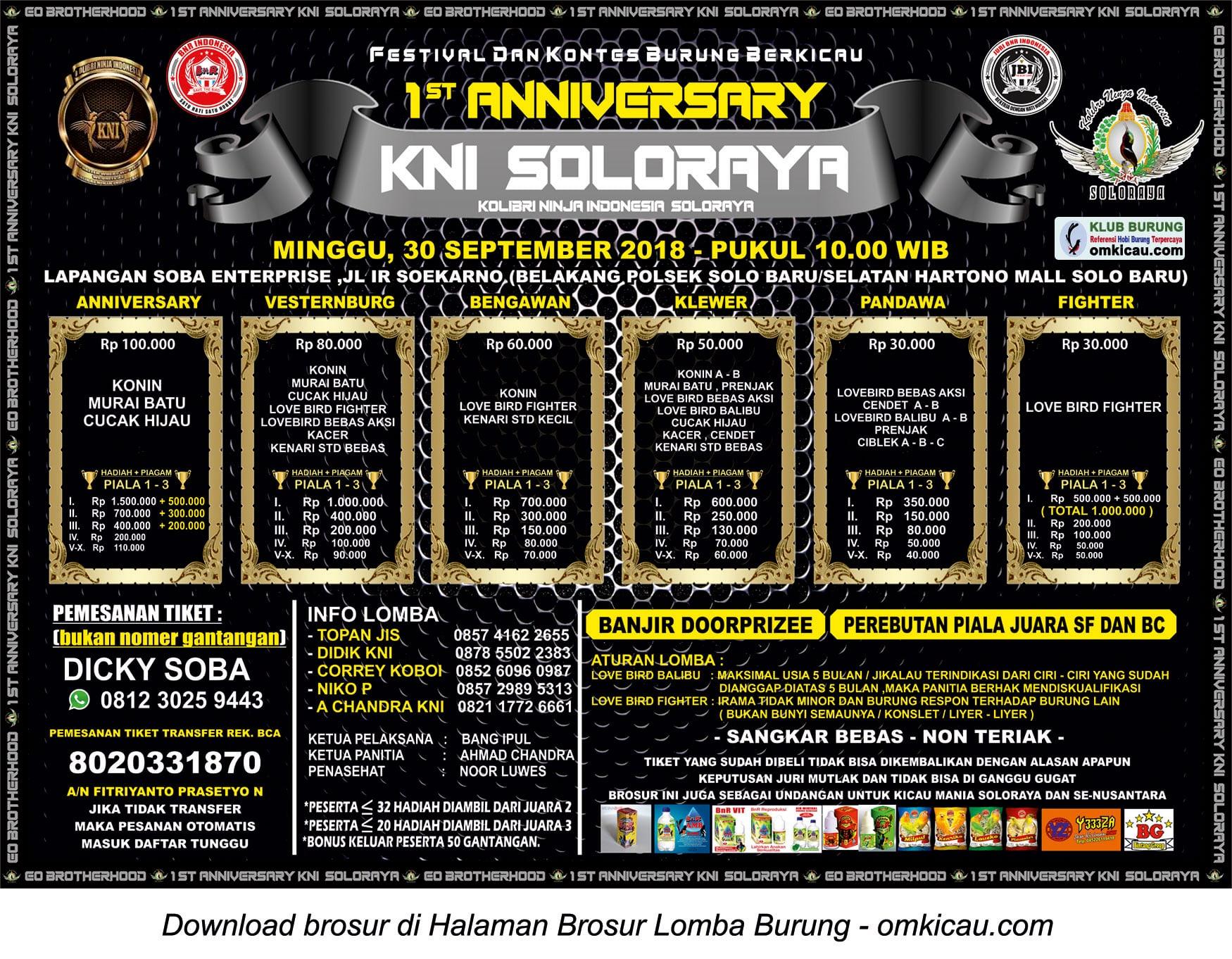 1st Anniversary KNI Solo Raya