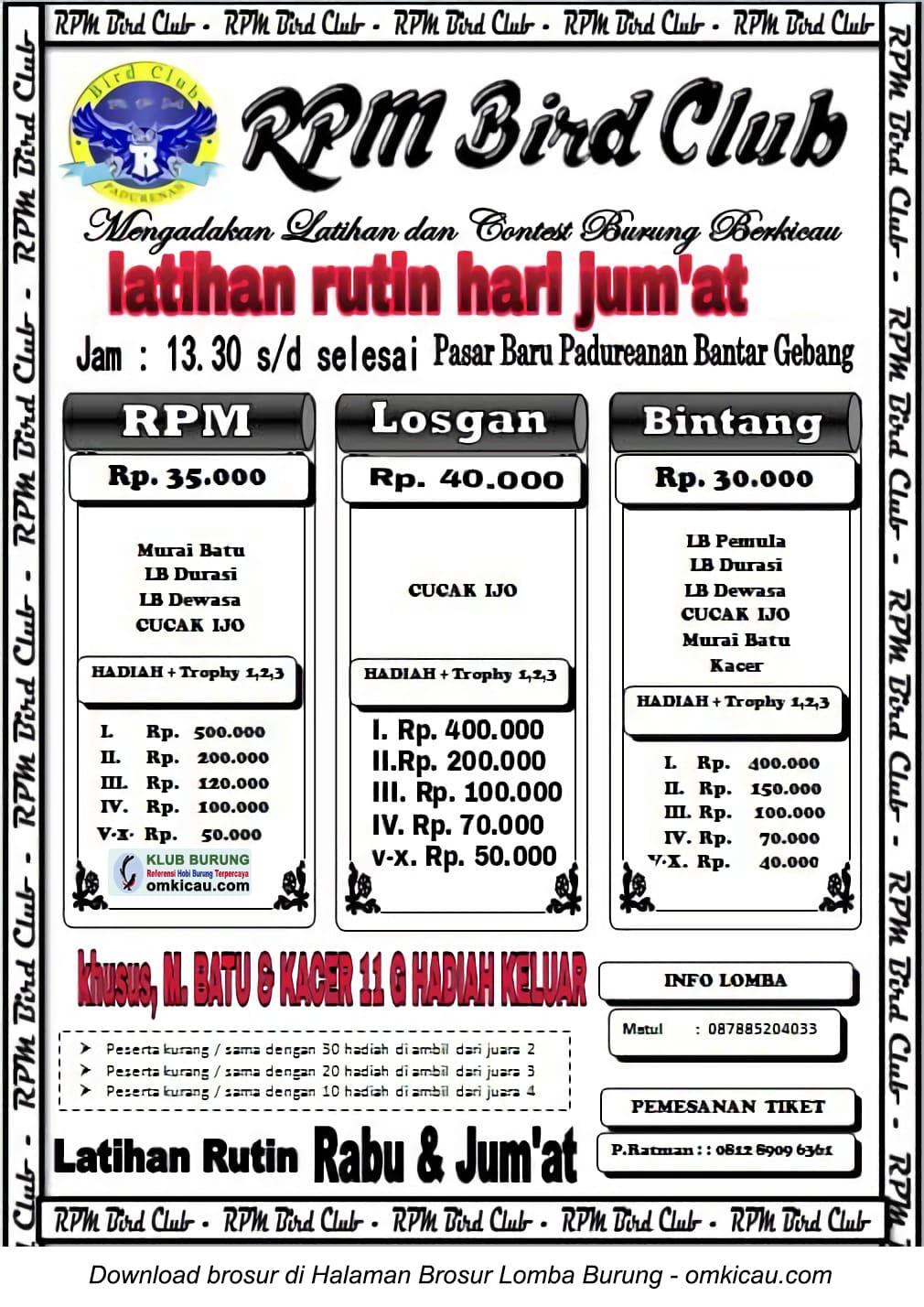 Latber RPM Bird Club Bekasi