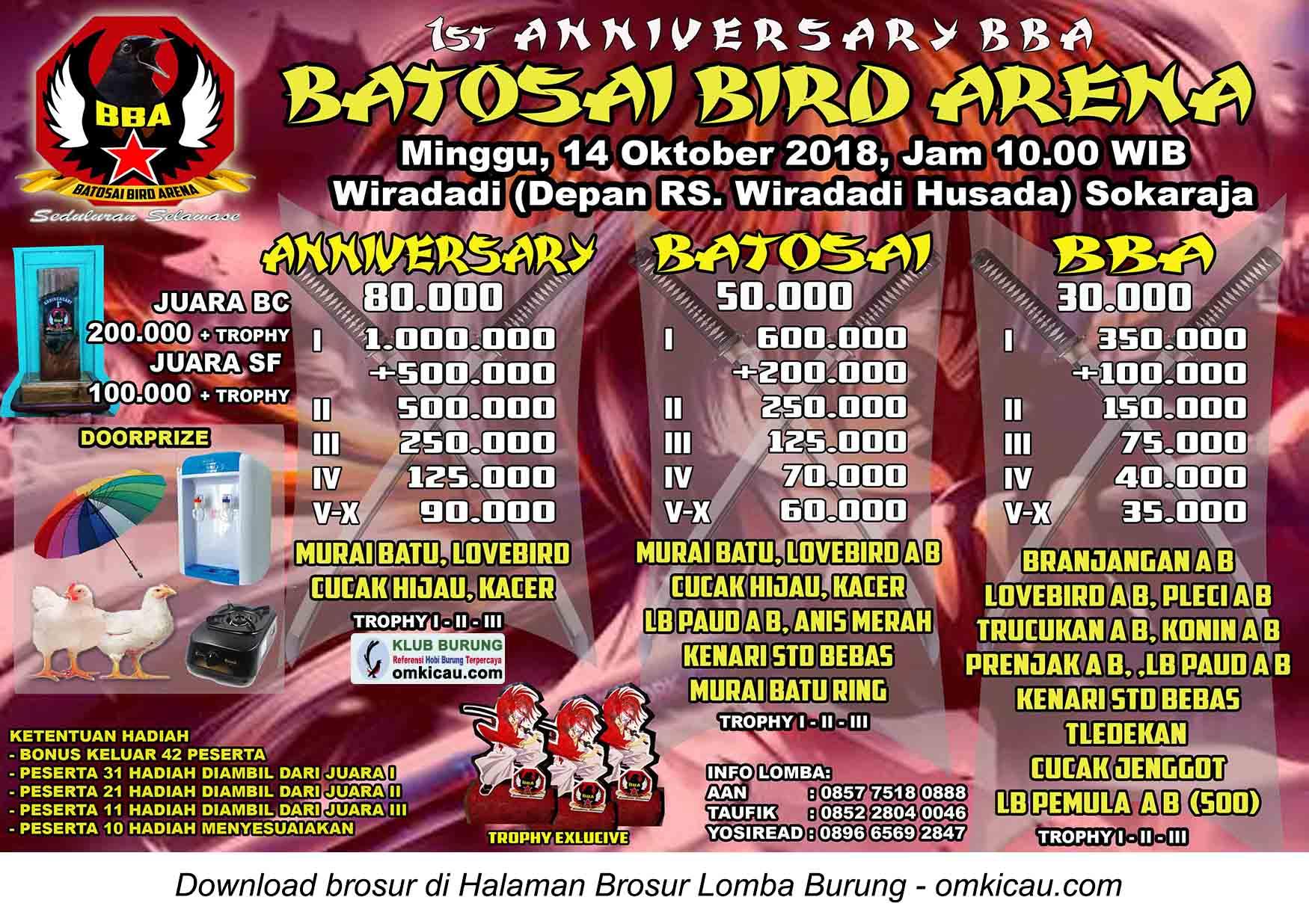 Batosai Bird Arena