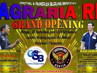 Grand Opening Agraria RI