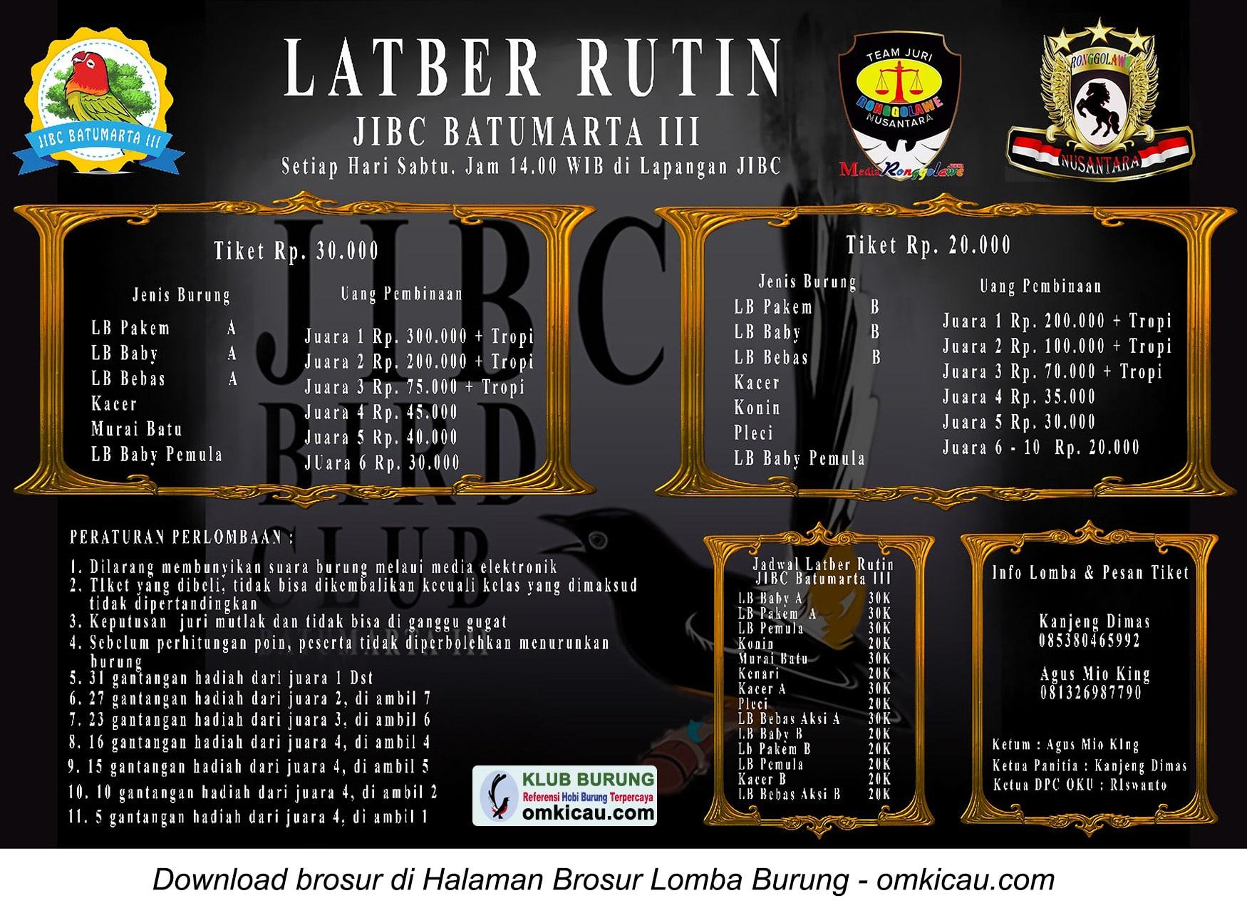 Latber Rutin JIBC Batumarta III
