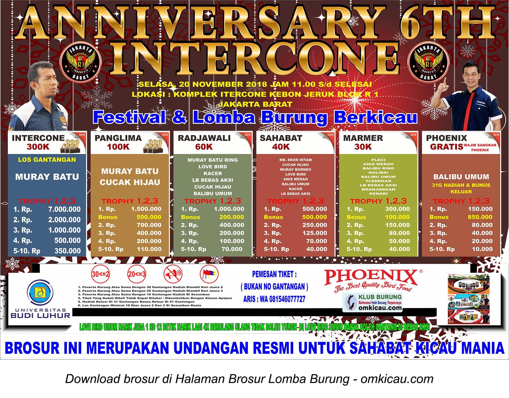 Anniversary 6 Tahun Intercone