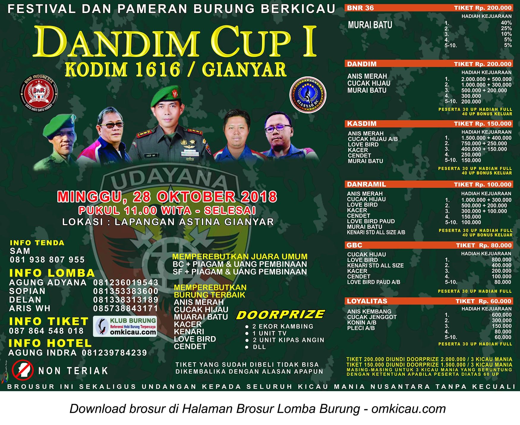 Dandim Cup I Gianyar