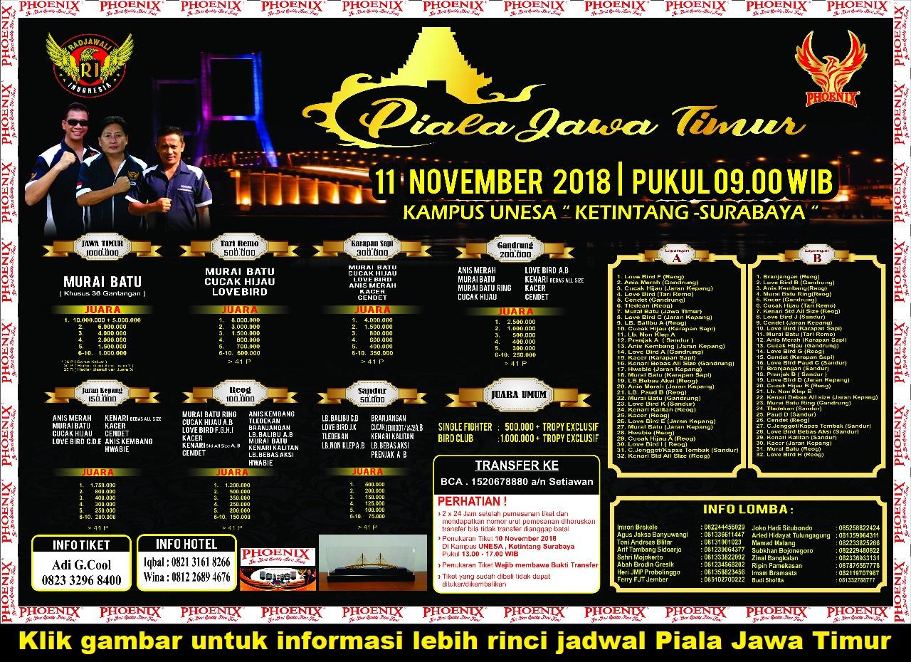 Lomba Burung Piala Jawa Timur