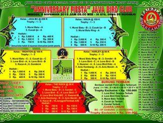 Anniversary Fiesta Java Bird Club