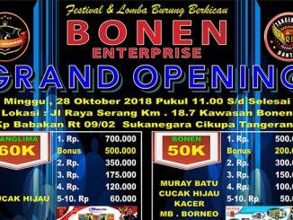 Grand Opening Bonen Enterprise