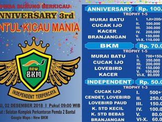 3rd Anniversary Bantul Kicau Mania