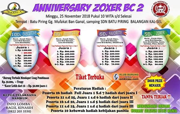 Anniversary Zoxer BC