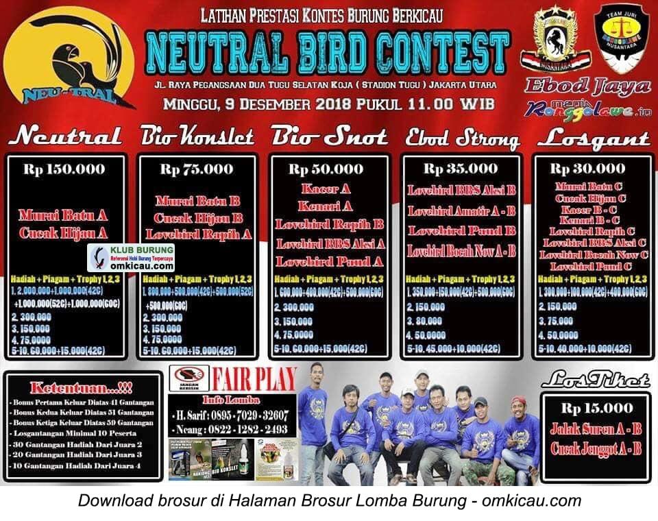 Latpres Neutral Bird Contest
