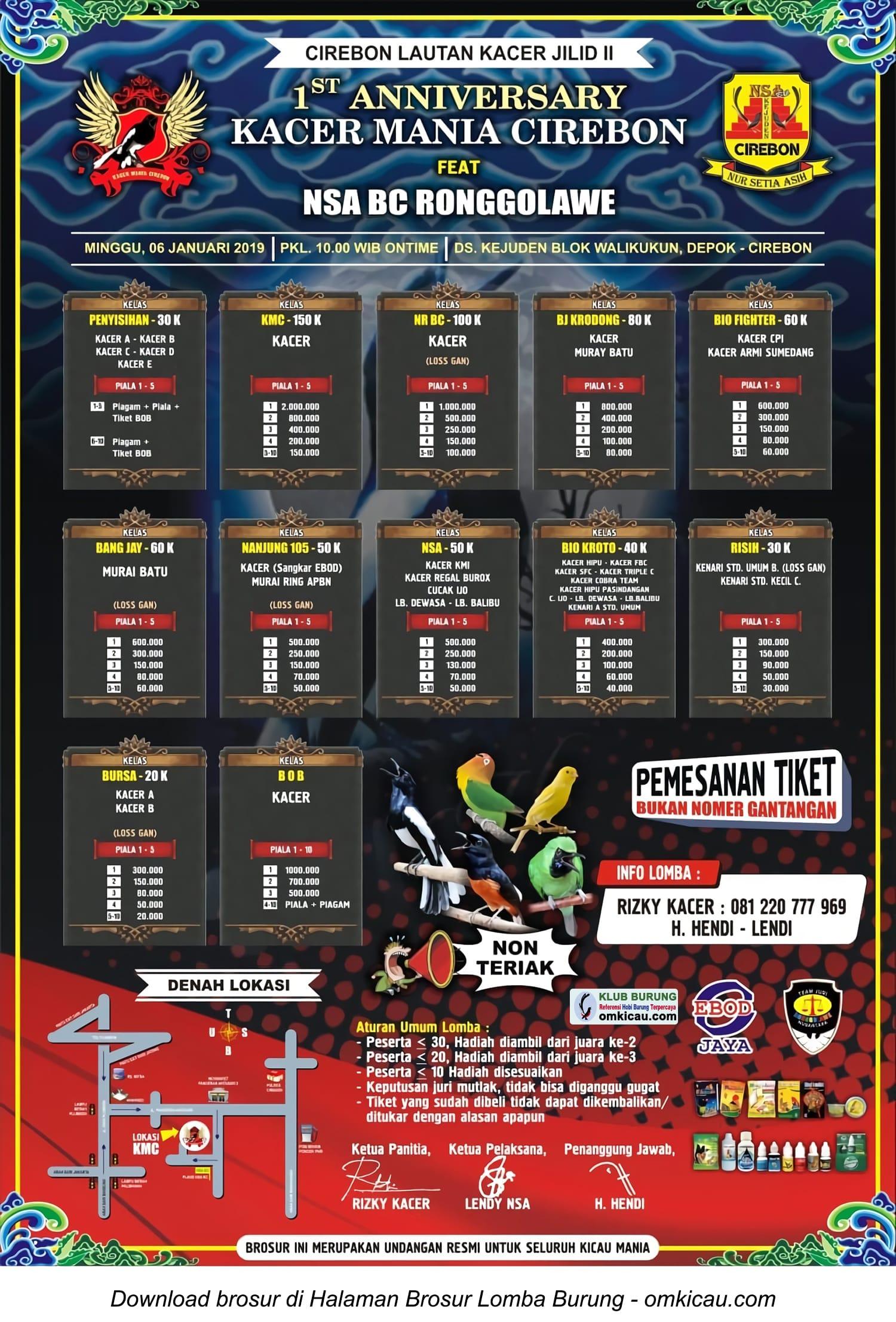 1st Anniversary Kacer Mania Cirebon