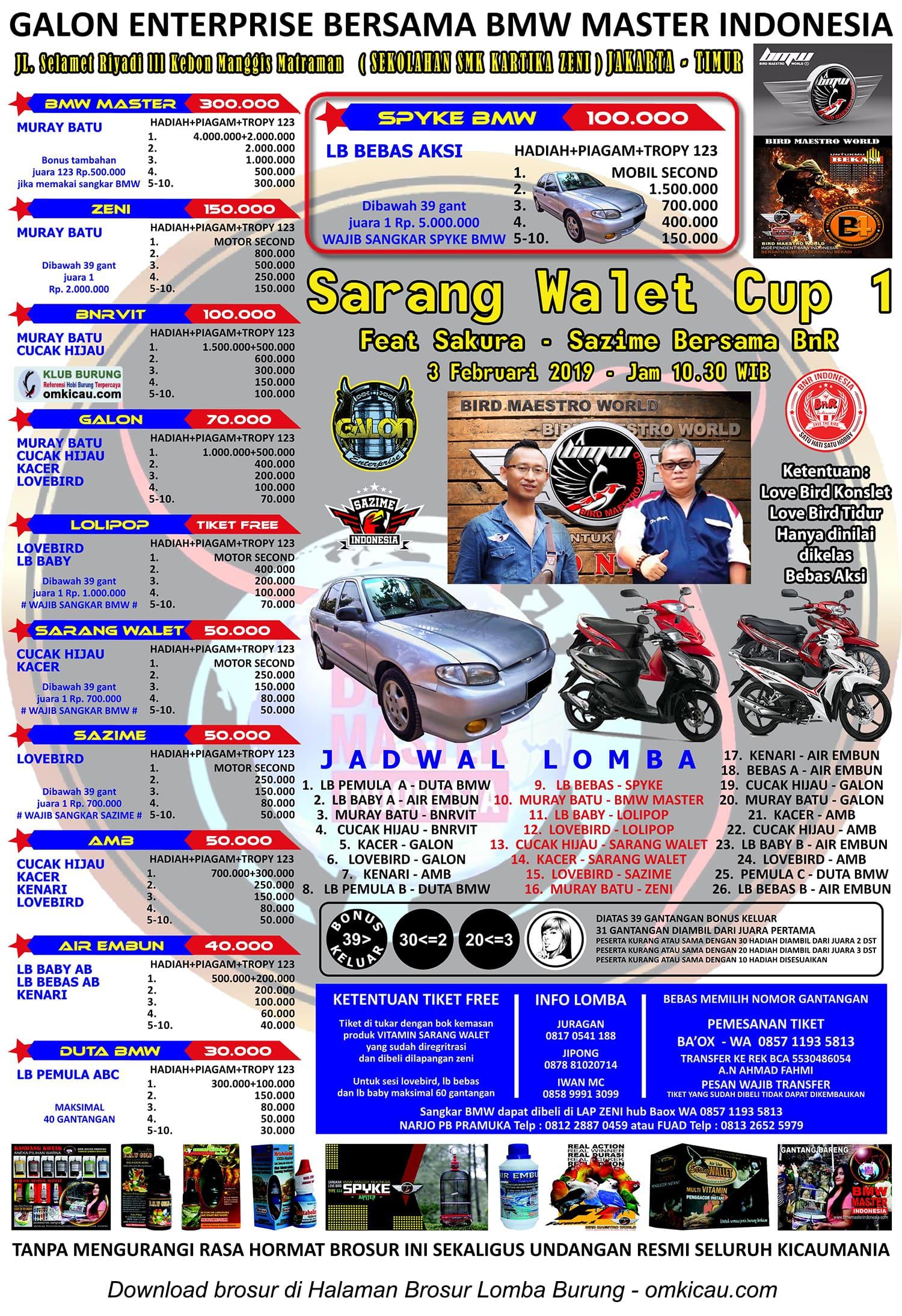 Sarang Walet Cup 1