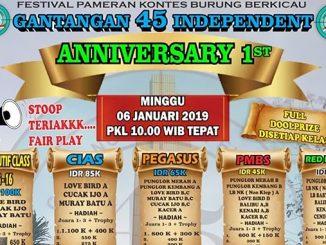 Anniversary Gantangan 45 Independent