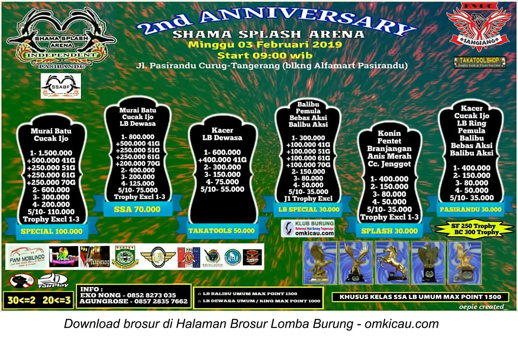 2nd Anniversary Shama Splash Arena