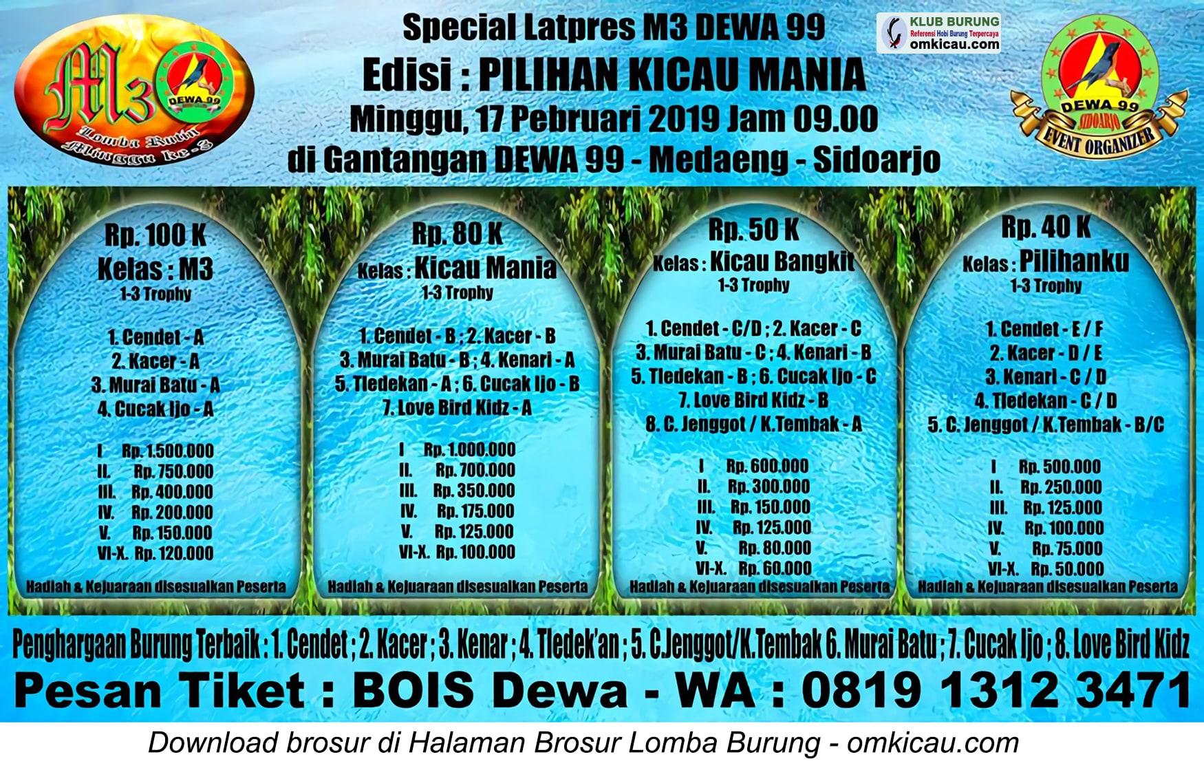 Special Latpres M3 Dewa 99