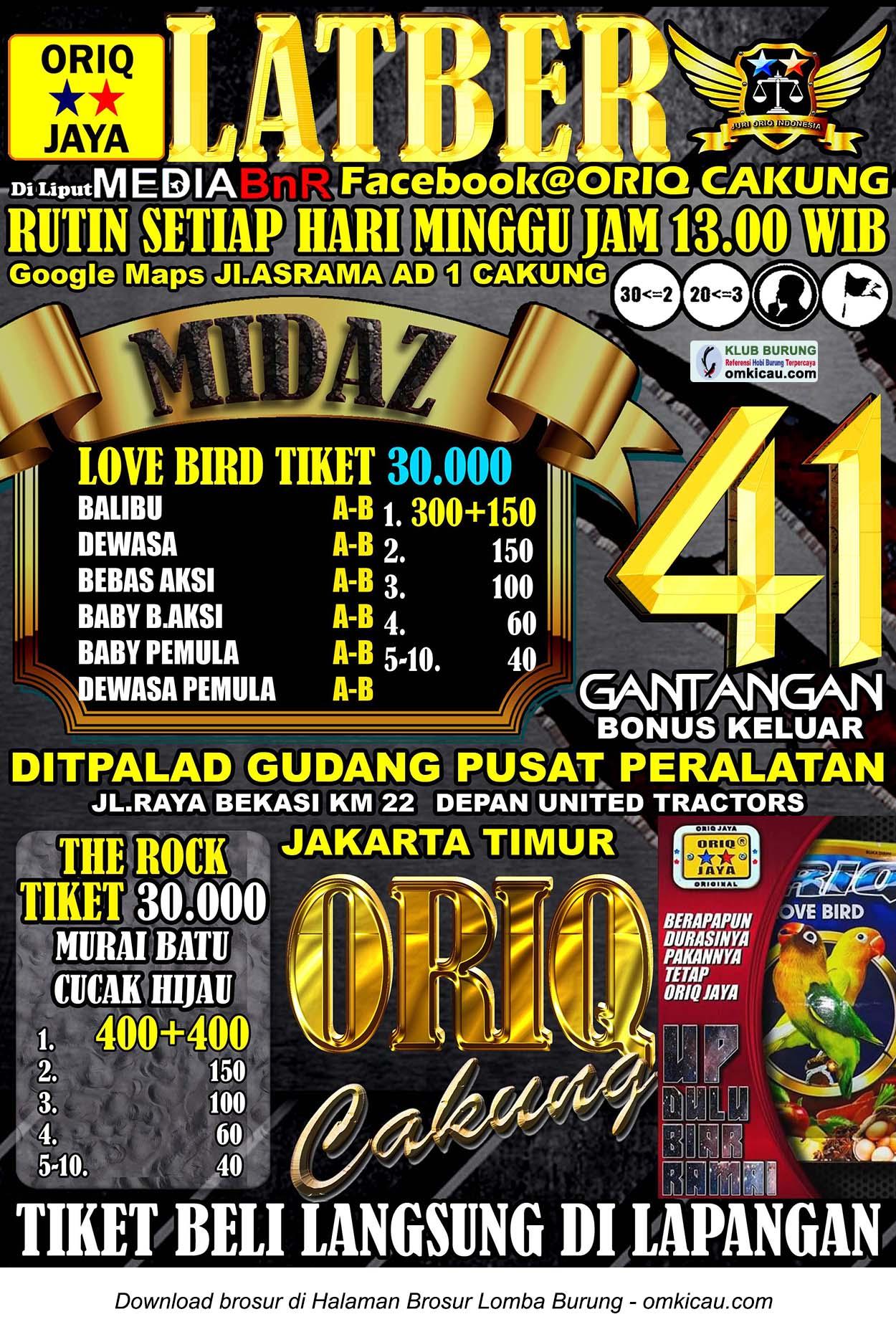 Latber Oriq Cakung edisi Minggu