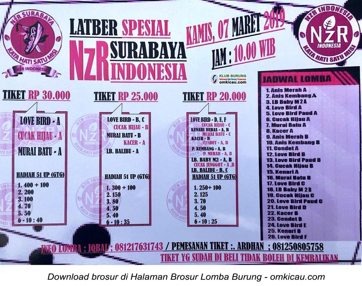 Latber Spesial NZR Surabaya