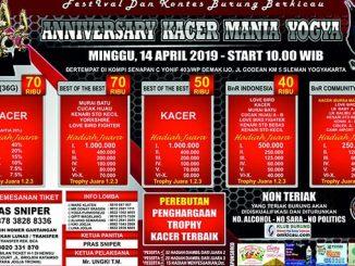 Anniversary Kacer Mania Yogya
