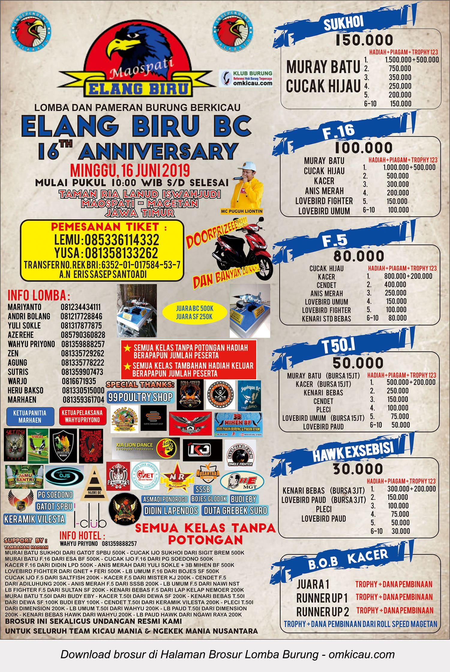 16th Anniversary Elang Biru BC