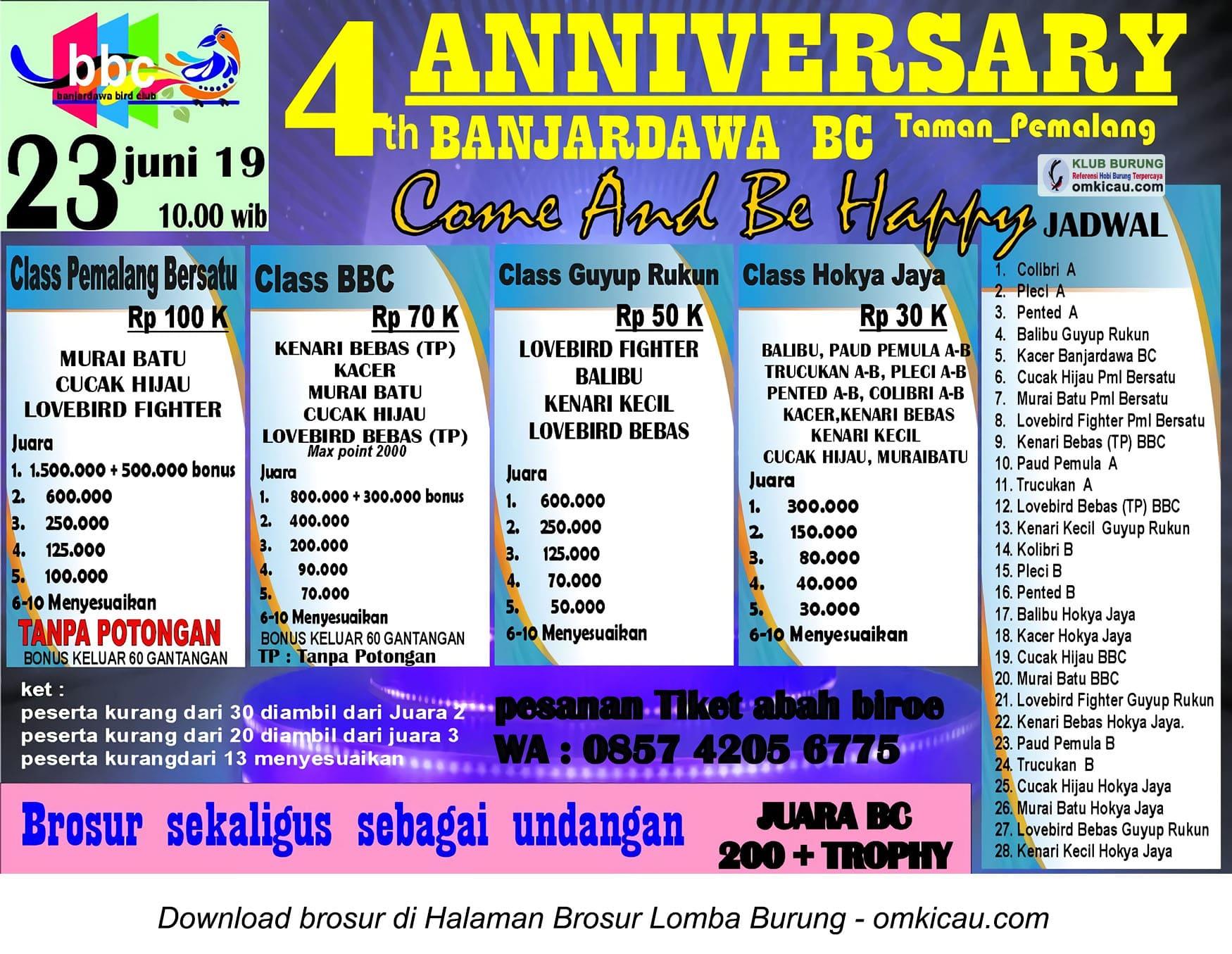 4th Anniversary Banjardawa BC