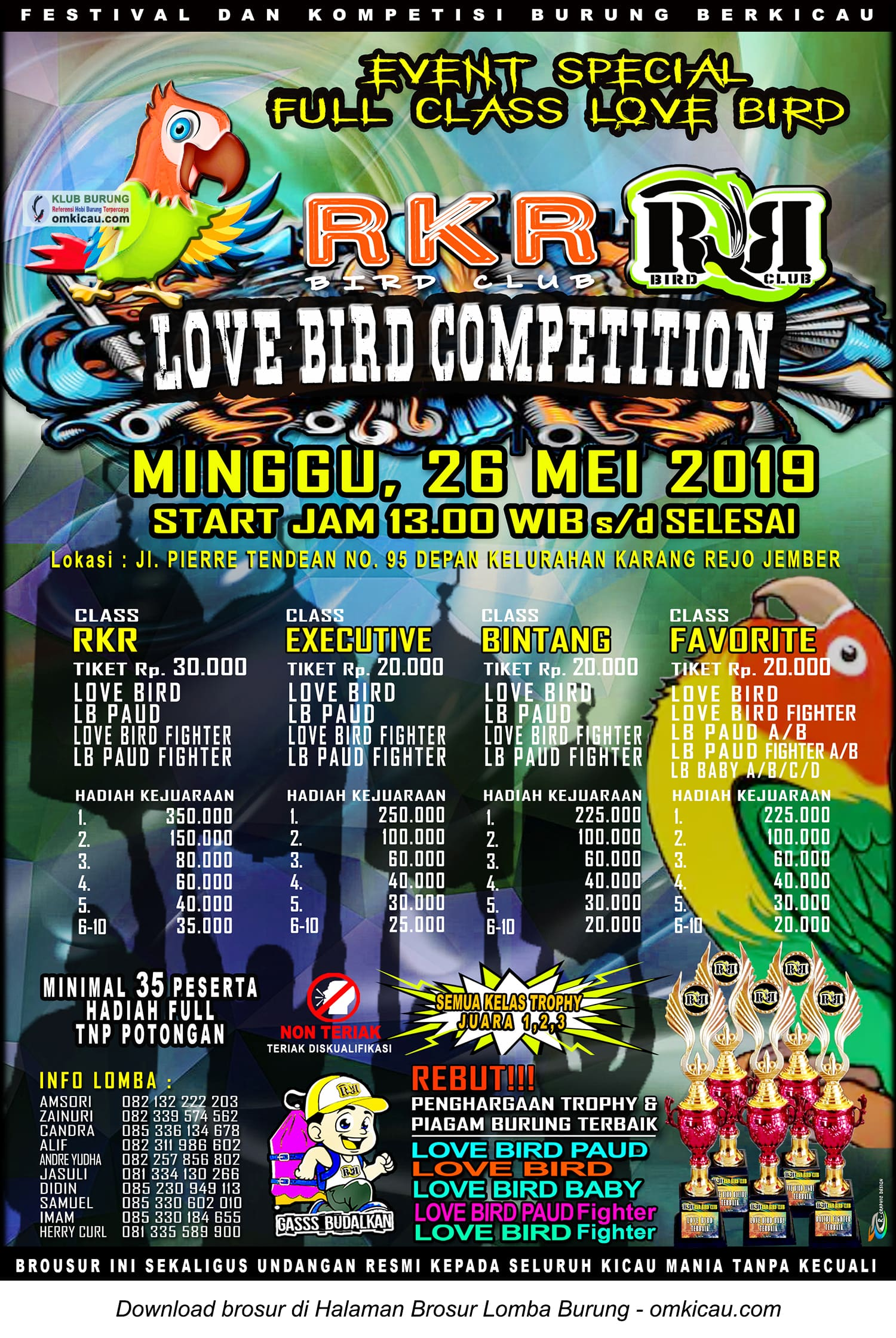 Love Bird Competition RKR BC