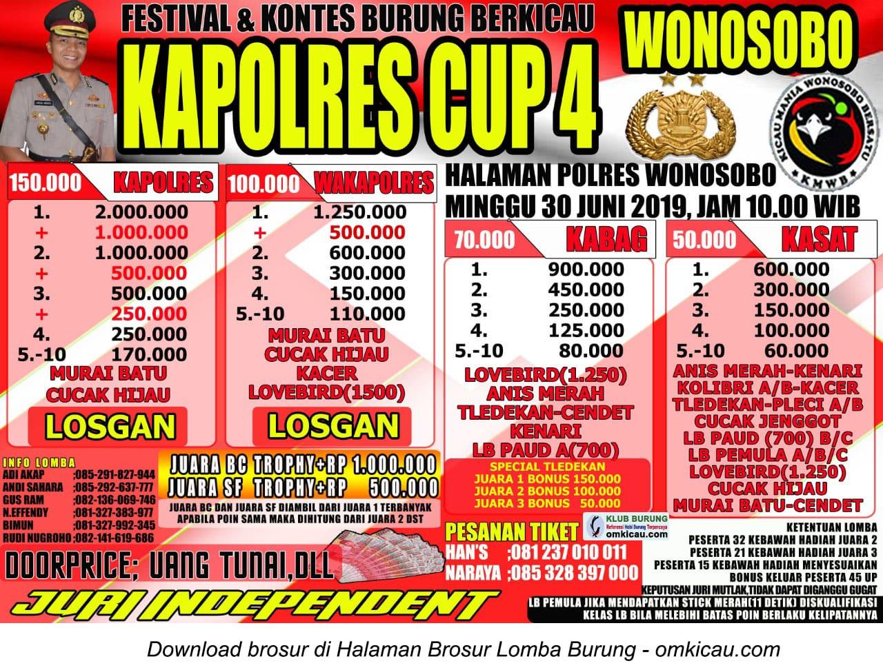 Kapolres Cup 4 Wonosobo