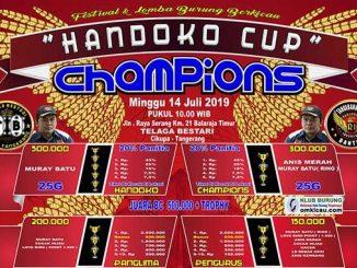 Handoko Cup Champions