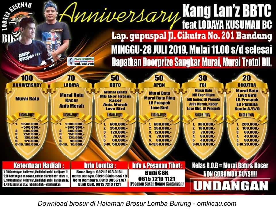 Anniversary Kang Lan'z BBTC