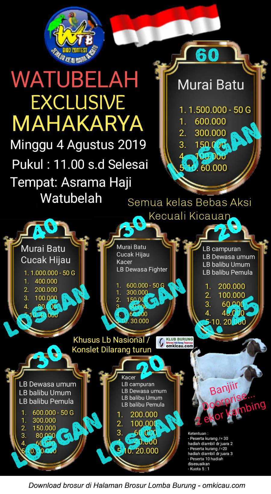 Watubelah Exclusive Mahakarya
