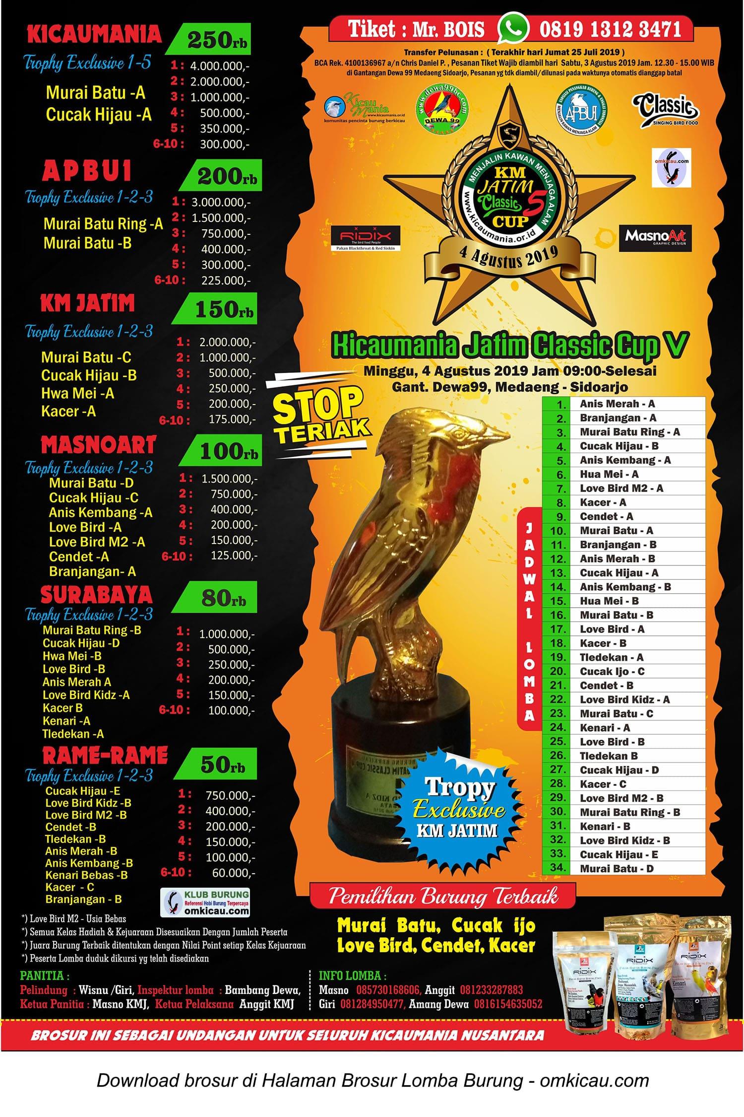 Kicaumania Jatim Classic Cup V
