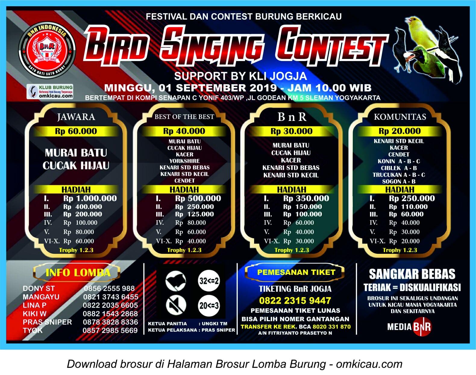 BnR Bird Singing Contest